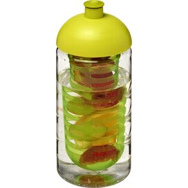 H2O Bop® 500 ml bidon en infuser met koepeldeksel Transparant,Lime