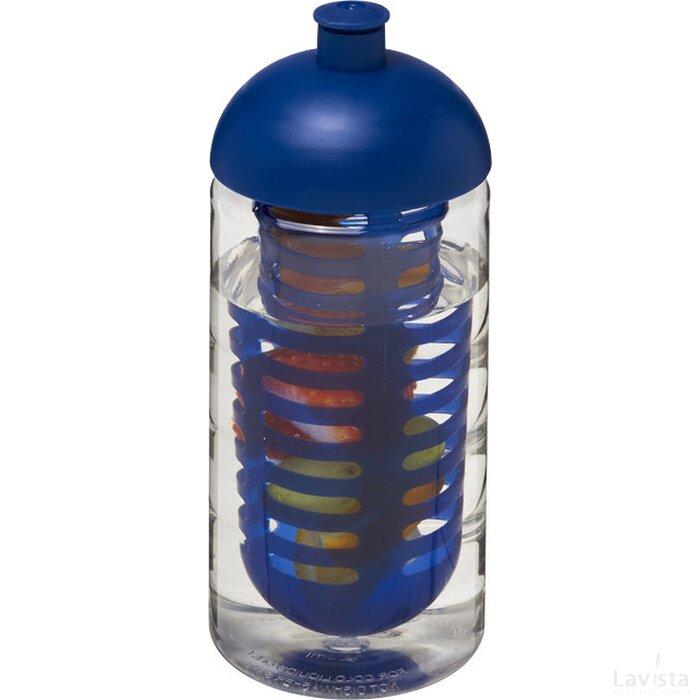 H2O Bop® 500 ml bidon en infuser met koepeldeksel Transparant,blauw