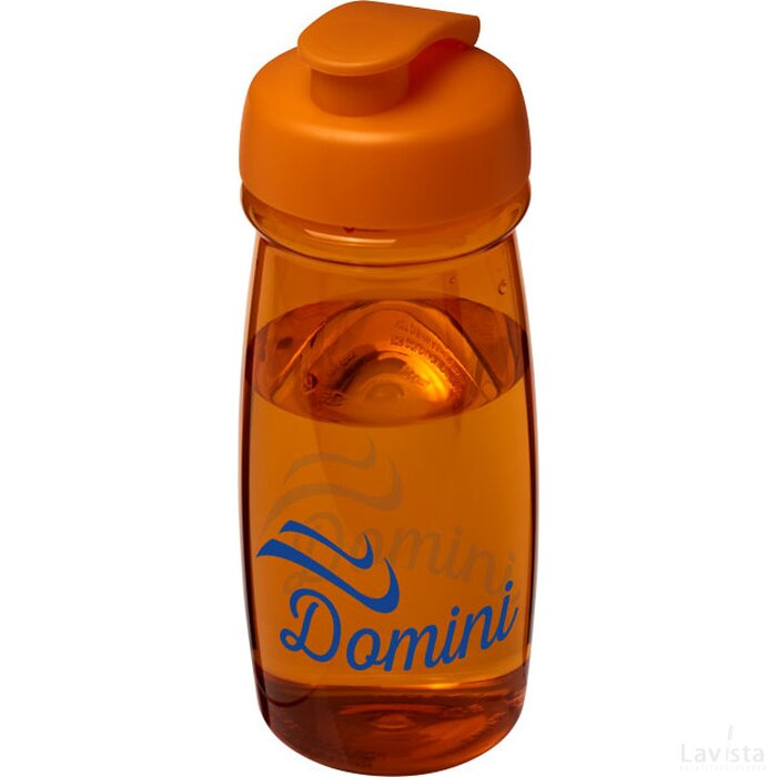 H2O Pulse® 600 ml sportfles met flipcapdeksel Oranje