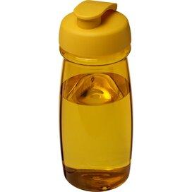 H2O Pulse® 600 ml sportfles met flipcapdeksel geel