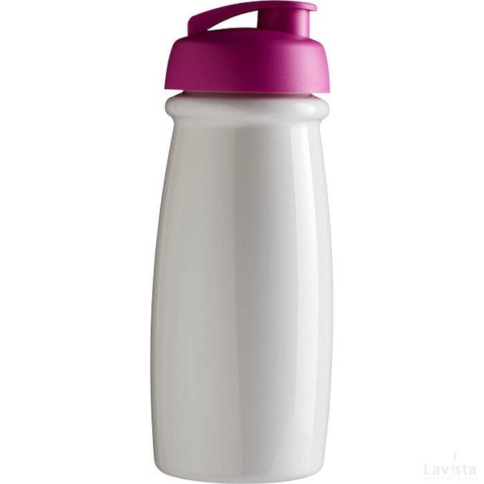 H2O Pulse® 600 ml sportfles met flipcapdeksel Wit,Roze