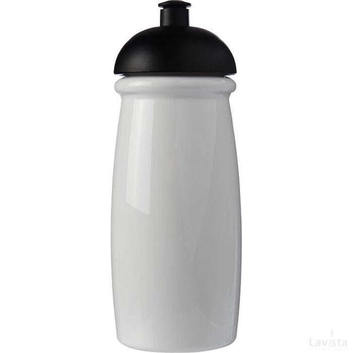 H2O Pulse® 600 ml bidon met koepeldeksel Wit,Zwart