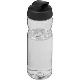 H2O Base Tritan™ 650 ml sportfles met flipcapdeksel Transparant,Zwart