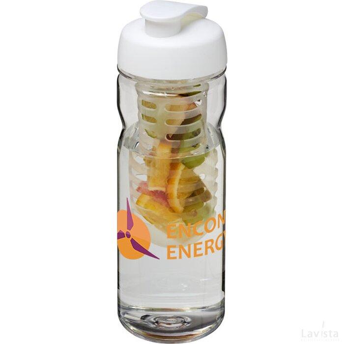H2O Base Tritan™ 650 ml sportfles en infuser met flipcapdeksel Transparant,Wit