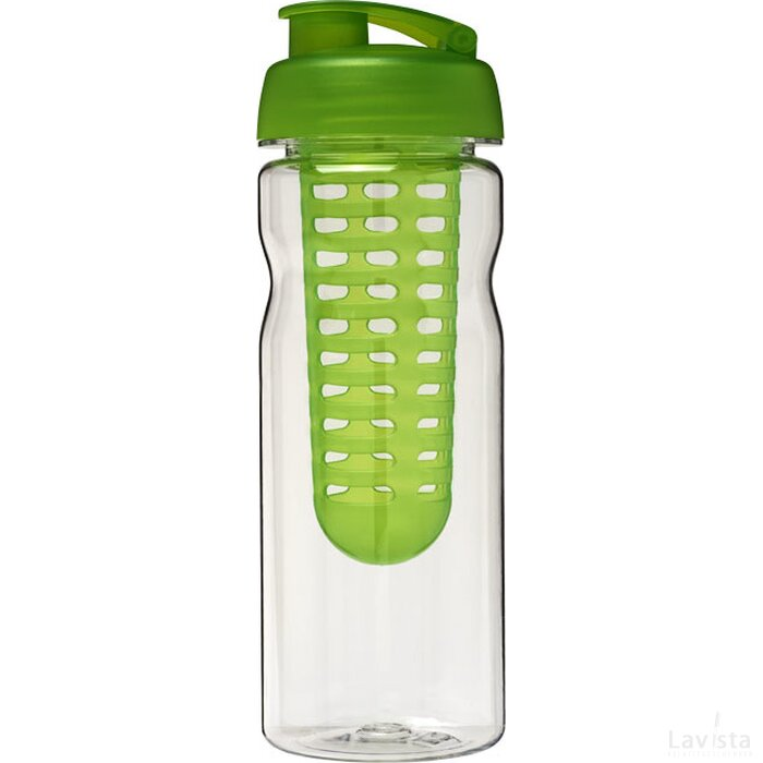 H2O Base Tritan™ 650 ml sportfles en infuser met flipcapdeksel Transparant,Lime