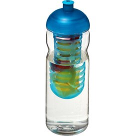 H2O Base Tritan™ 650 ml bidon en infuser met koepeldeksel Transparant,aqua blauw