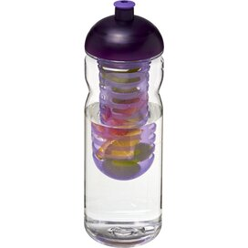 H2O Base Tritan™ 650 ml bidon en infuser met koepeldeksel Transparant,Paars