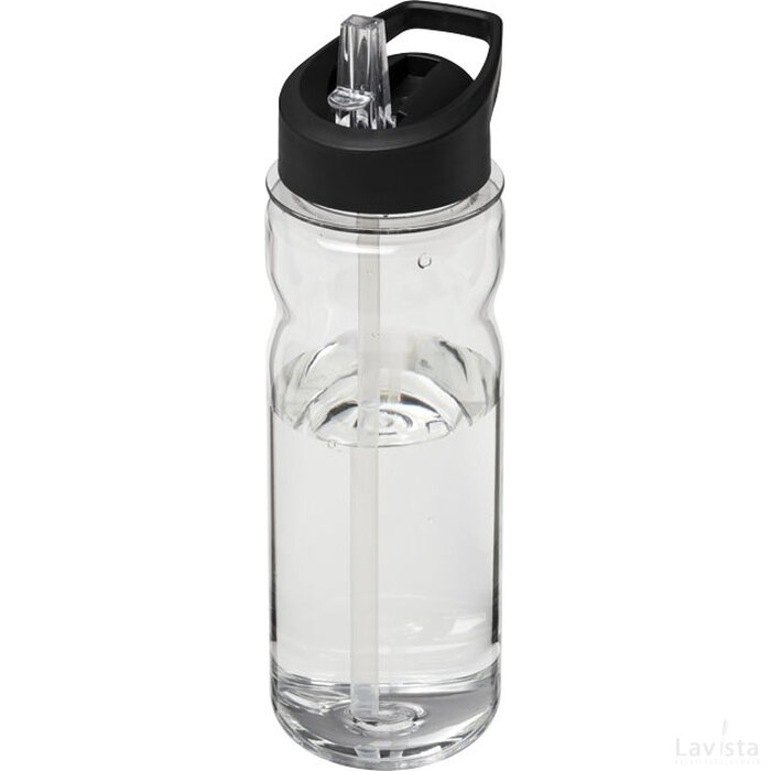 H2O Base Tritan™ 650 ml sportfles met fliptuitdeksel Transparant,Zwart