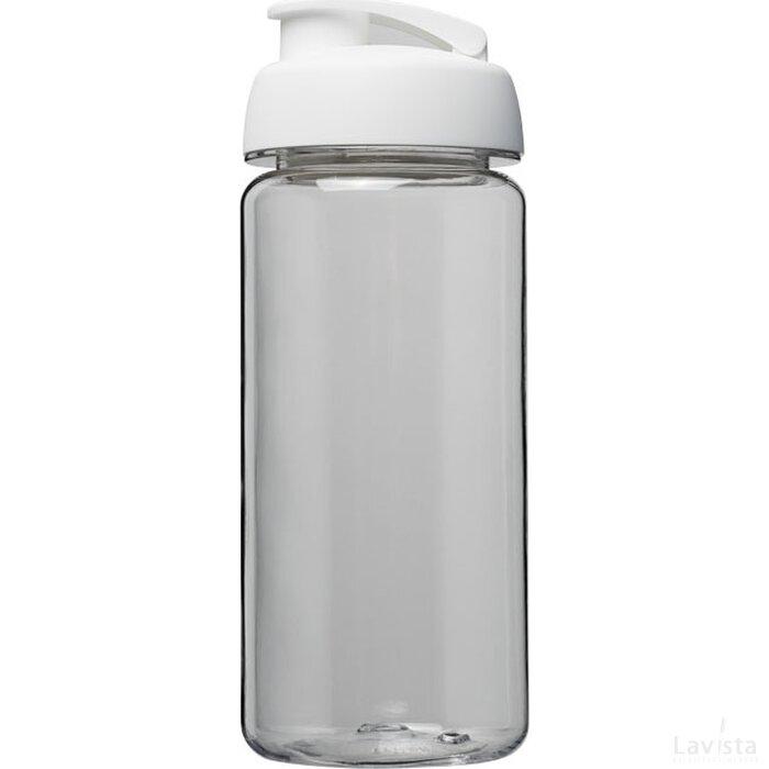 H2O Octave Tritan™ 600 ml sportfles met flipcapdeksel Transparant,Wit