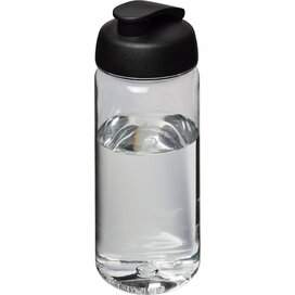H2O Octave Tritan™ 600 ml sportfles met flipcapdeksel Transparant,Zwart