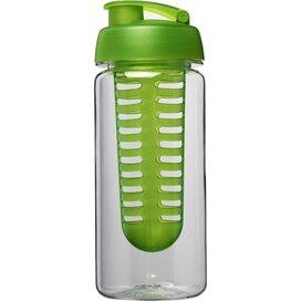 H2O Octave Tritan™ 600 ml sportfles en infuser met flipcapdeksel Transparant,Lime