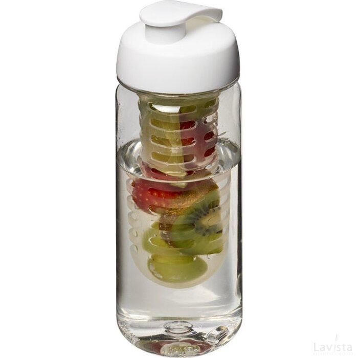 H2O Octave Tritan™ 600 ml sportfles en infuser met flipcapdeksel Transparant,Wit
