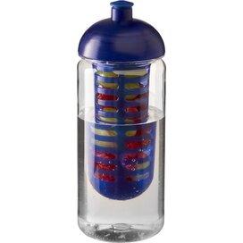 H2O Octave Tritan™ 600 ml bidon en infuser met koepeldeksel Transparant,blauw