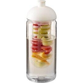 H2O Octave Tritan™ 600 ml bidon en infuser met koepeldeksel Transparant,Wit