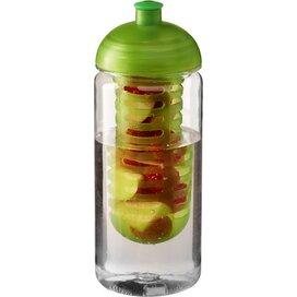 H2O Octave Tritan™ 600 ml bidon en infuser met koepeldeksel Transparant,Lime