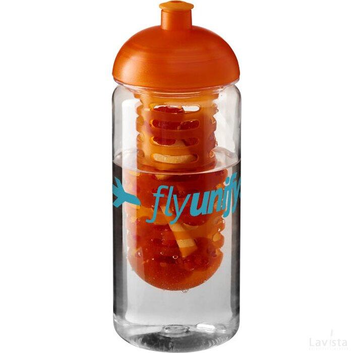 H2O Octave Tritan™ 600 ml bidon en infuser met koepeldeksel Transparant,Oranje