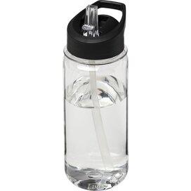 H2O Octave Tritan™ 600 ml sportfles met fliptuitdeksel Transparant,Zwart
