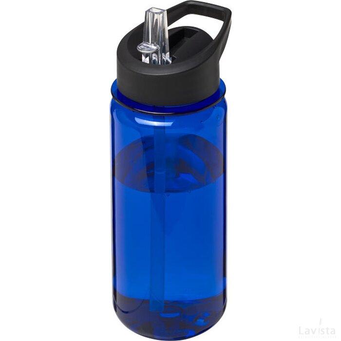 H2O Octave Tritan™ 600 ml sportfles met fliptuitdeksel blauw,Zwart
