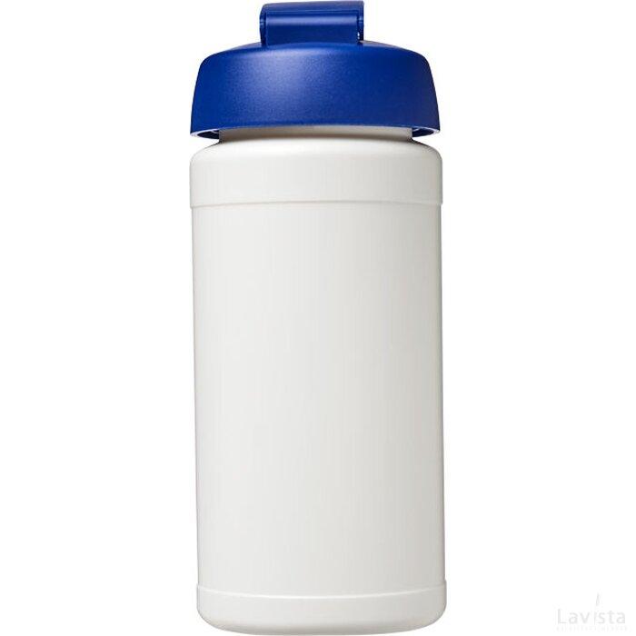 Baseline® Plus 500 ml sportfles met flipcapdeksel Wit,blauw