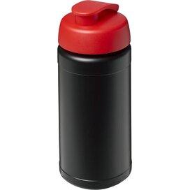 Baseline® Plus 500 ml sportfles met flipcapdeksel Zwart,Rood
