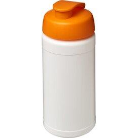 Baseline® Plus 500 ml sportfles met flipcapdeksel Wit,Oranje