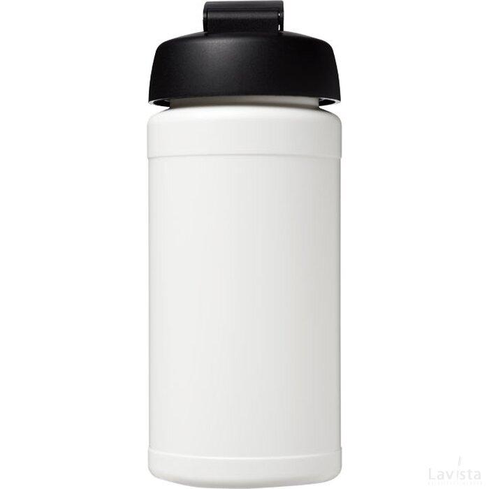 Baseline® Plus 500 ml sportfles met flipcapdeksel Wit,Zwart