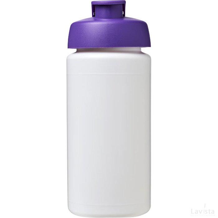 Baseline® Plus grip 500 ml sportfles met flipcapdeksel Wit,Paars