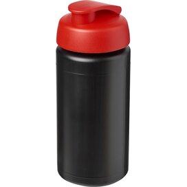 Baseline® Plus grip 500 ml sportfles met flipcapdeksel Zwart,Rood