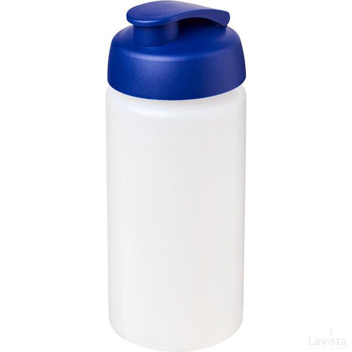 Baseline® Plus grip 500 ml sportfles met flipcapdeksel Transparant,blauw