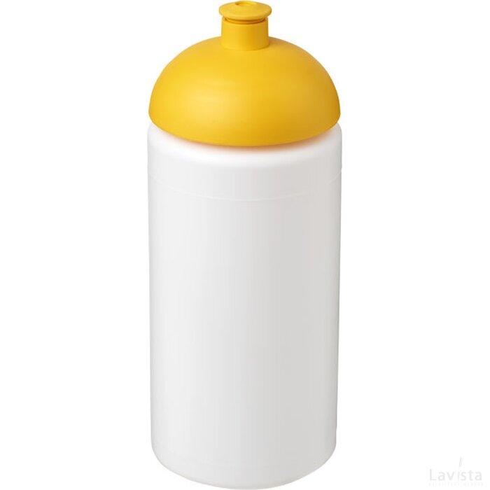 Baseline® Plus grip 500 ml bidon met koepeldeksel Wit,geel