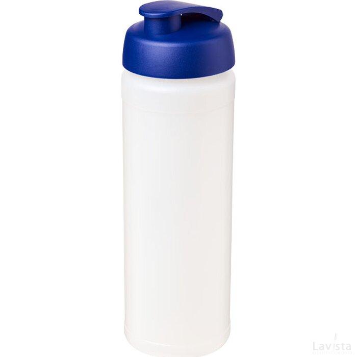 Baseline® Plus grip 750 ml sportfles met flipcapdeksel Transparant,blauw