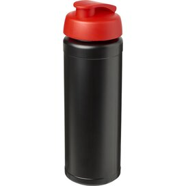 Baseline® Plus grip 750 ml sportfles met flipcapdeksel Zwart,Rood