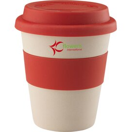Eco Bamboo-To-Go Beker Rood