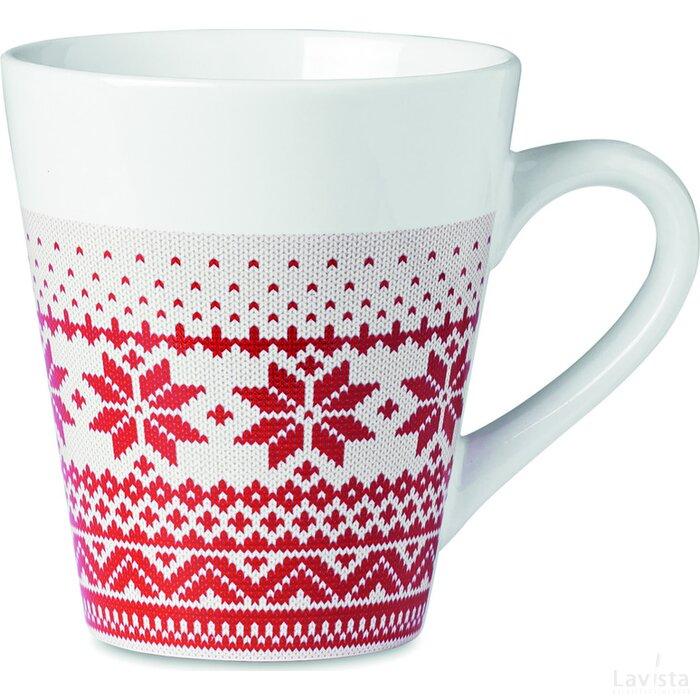 Mok met kerstdesign Idduna rood