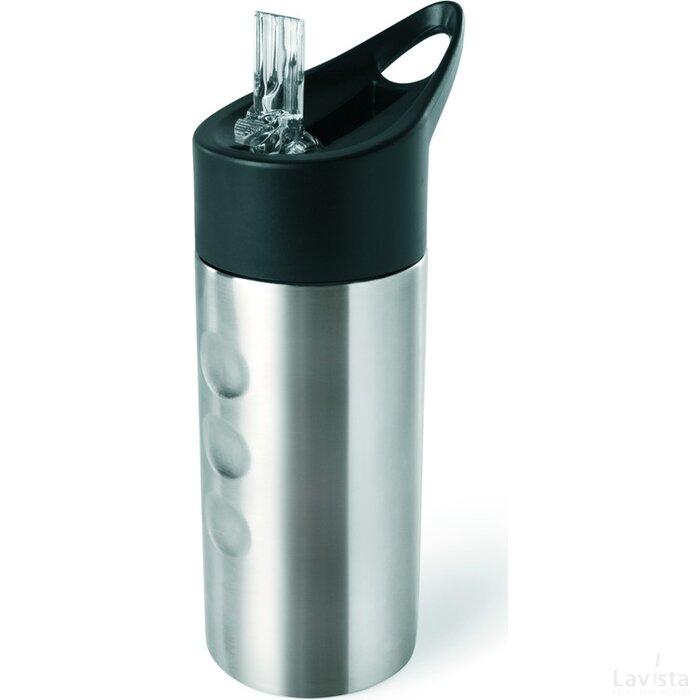Metalen drinkfles Lagoon mat zilver