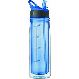 Drinkfles van tritan™ Double royal blauw