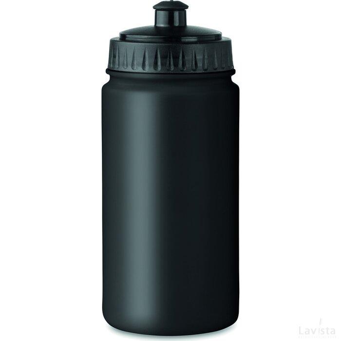 Kunststof drinkfles 500 ml Spot five zwart