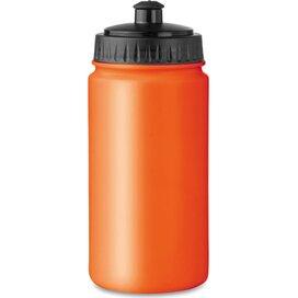 Kunststof drinkfles Spot five oranje