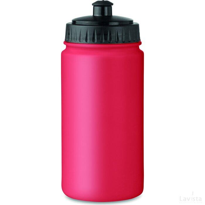 Kunststof drinkfles 500 ml Spot five rood