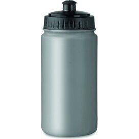 Kunststof drinkfles Spot five mat zilver