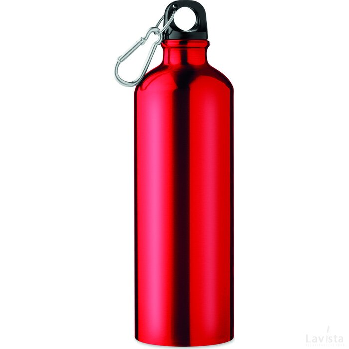 Aluminium fles 750 ml Big moss rood