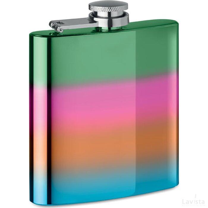 Slanke heupfles Slimmy flask + multicolour