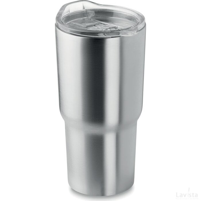 Dubbelwandige mok 600 ml Alaska mat zilver
