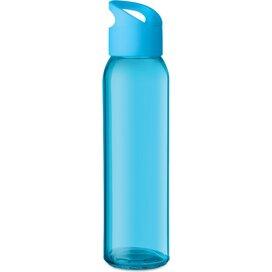 Glazen drinkfles Praga turquoise