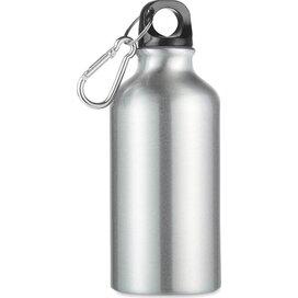 Aluminium drinkfles 400 ml Mid moss mat zilver