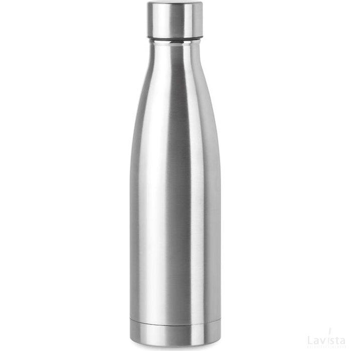 Dubbelwandige drinkfles 500 ml Belo bottle mat zilver