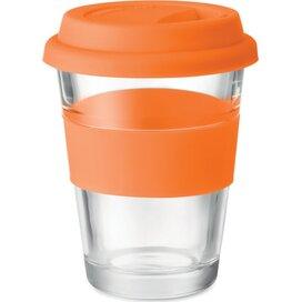 Glazen drinkbeker 350 ml Astoglass oranje