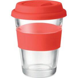 Glazen drinkbeker 350 ml Astoglass rood