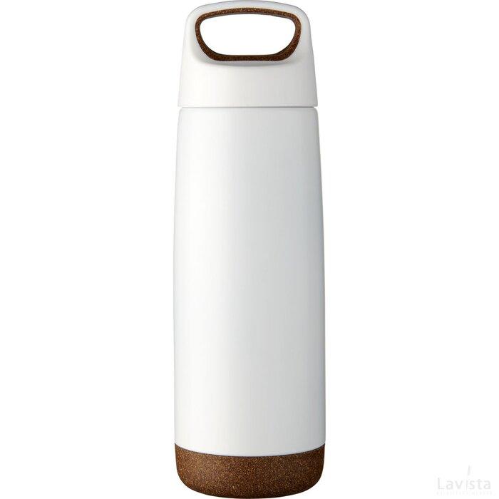 Valhalla 600 ml koper vacuüm geïsoleerde drinkfles Wit