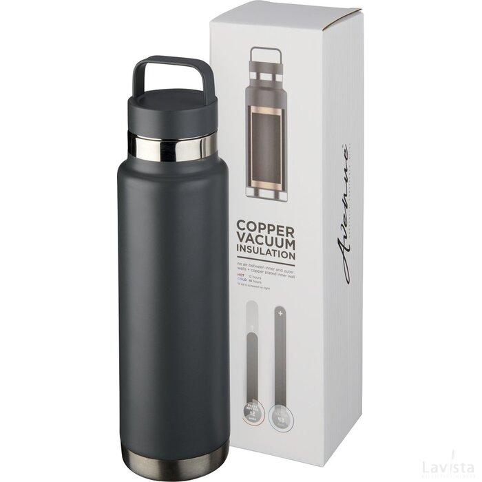 Colton 600 ml met koper vacuüm geïsoleerde drinkfles Grijs